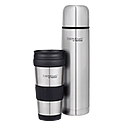 1L Stainless Steel Vacuum Insulated Flask & 420ml Travel Tumbler Combo Pack