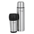 1L Stainless Steel Vacuum Insulated Flask & 450ml Travel Tumbler Combo Pack