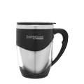 375ml Stainless Steel Inner Double Wall Desk Mug - Black
