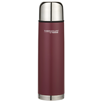 1.0L Everyday Stainless Steel Slimline Flask - Matte Red