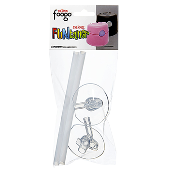 2PK Foogo® & FUNtainer® Replacement Mouth Pieces & Straws