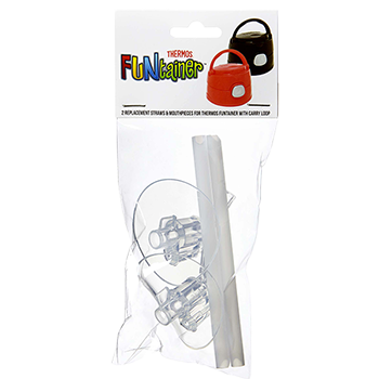 2PK FUNtainer® Replacement Mouth Pieces & Straws