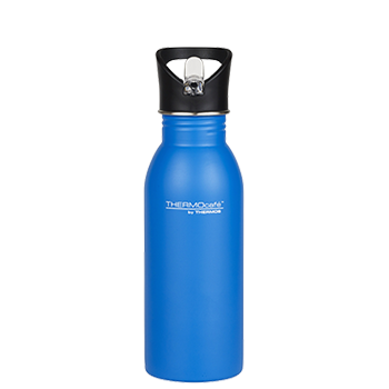 500ml Stainless Steel Hydration Bottle with Straw - Blue