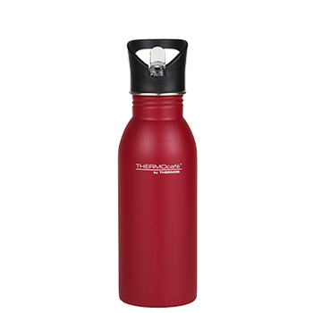 500ml Stainless Steel Hydration Bottle with Straw - Red