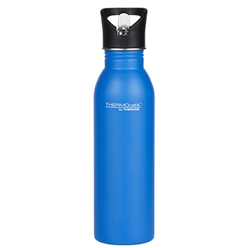 700ml Stainless Steel Hydration bottle with Straw - Blue