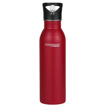 700ml Stainless Steel Hydration Bottle with Straw - Red