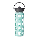 475ml Straw Cap Bottle - Turquoise