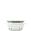 240ml Food Container - Optic White/Grass Green