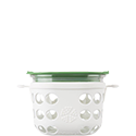 475ml Food Container - Optic White/Green Grass
