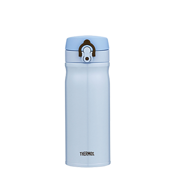 400ml Stainless Steel Vacuum Insulated Direct Drink Flask - Blue