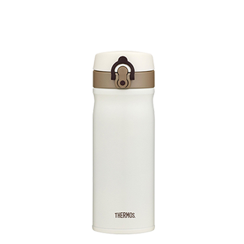 400ml Stainless Steel Vacuum Insulated Direct Drink Flask - Cream