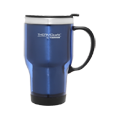 470ml Stainless Steel Inner, Plaster Outer Travel Mug - Blue