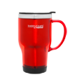 470ml Stainless Steel Inner, Platic Outer Travel Mug - Red
