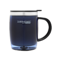 450ml Stainless Steel Inner, Plastic Outer Desk Mug - Blue