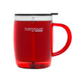 450ml Stainless Steel Inner, Plastic Outer Desk Mug - Red